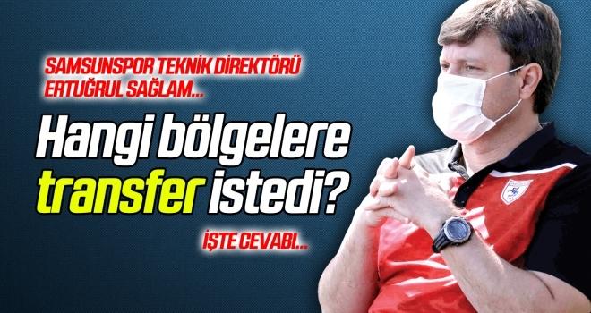 Samsunspor Teknik Direktörü Sağlam, hangi bölgelere transfer istedi?