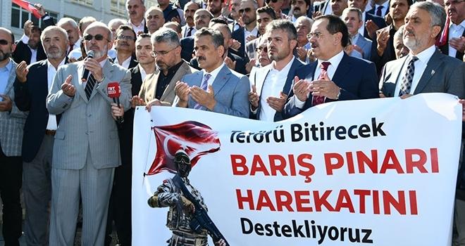 Samsun'da Barış Pınarı Harekatı'na destek