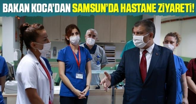 Sağlık Bakanı Koca'danSamsun'da hastane ziyareti