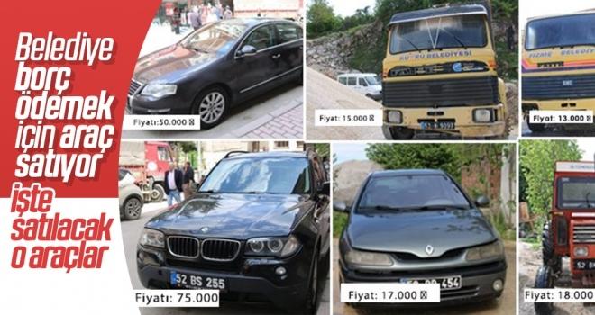 Belediye borç ödemek için araç satıyor