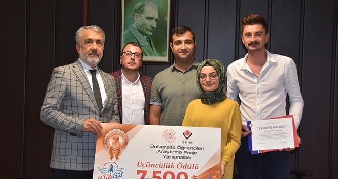 İSİF 2019 Ödül Sahiplerinden Rektör Bilgiç'e Ziyaret