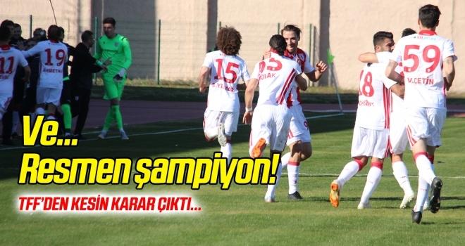 Ve... Samsunspor resmen şampiyon!