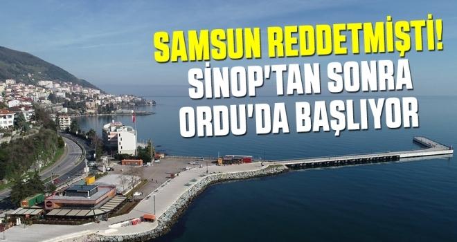 Sinop'tan sonraOrdu'da başlıyor