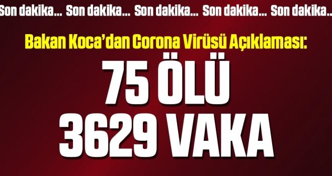 Sağlık Bakanı Koca son corona virüsü verilerini duyurdu! (26 Mart 2020)